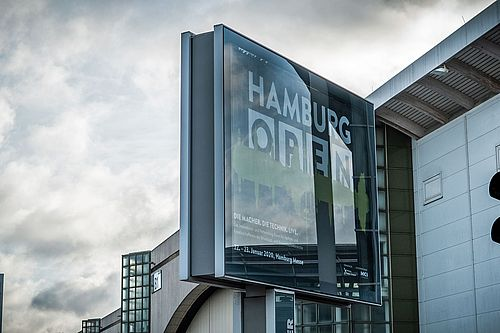 HAMBURG OPEN Messeeingang